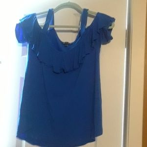 Royal Blue Shirt  95% Viscose 5% Spandex